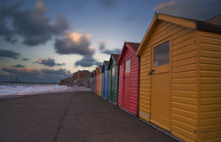 Beach Huts in Whitby [North Yorkshire, UK] Stock Photography