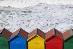 Beach huts in Whitby Stock Images