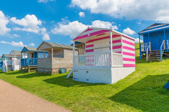 Beach huts whitstable kent uk england Stock Photos