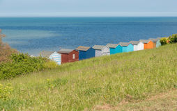 Beach huts whitstable kent uk england Royalty Free Stock Photos