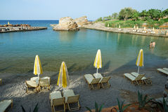 Beach of the Iberostar Creta Marine. A 4 stars hotel in Crete (Panormo Royalty Free Stock Photo