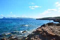 Beach Ibiza, Cala Bassa, Spain Stock Photos