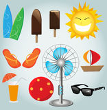 Beach icon. Royalty Free Stock Images