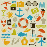 Beach an icon Royalty Free Stock Photos