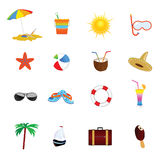 Beach icon color vector illustration. On a white Royalty Free Stock Photo