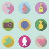 Beach Icon Pack Royalty Free Stock Image