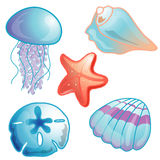 Beach icon set illustration Stock Images