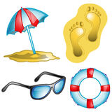 Beach icon set illustration Royalty Free Stock Photos