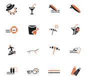 Beach icon set. Beach web icons for user interface design Royalty Free Stock Image