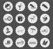 Beach icon set. Beach web icons for user interface design Royalty Free Stock Photos