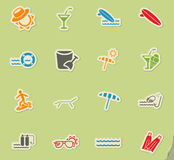 Beach icon set. Beach web icons for user interface design Stock Images