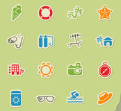 beach icon set Royalty Free Stock Photography