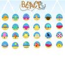 Beach icon vector stock illustration