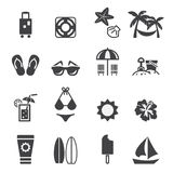 Beach icon Stock Images