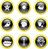 Beach icons stock illustration