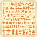Beach Icons, Stock Image