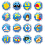 Beach-icons Royalty Free Stock Photos