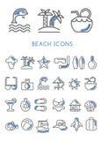 Beach Icons set  design Royalty Free Stock Photo