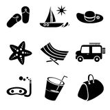 Beach icons Stock Photography
