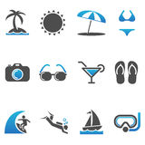 Beach Icons Stock Photo