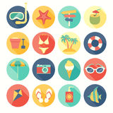 Beach icons set. Royalty Free Stock Photo