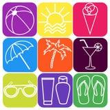 Beach icons. Stock Photo