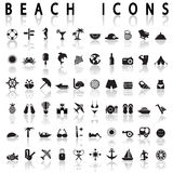Beach Icons Stock Photos