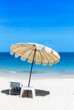 Beach on idyllic tropical sand beach. Royalty Free Stock Photos