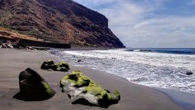 Beach of Igueste de San Andres in Tenerife royalty free stock photos