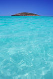Beach Illetas Illetes in Formentera near Ibiza Royalty Free Stock Image