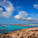 Beach Illetas Illetes in Formentera near Ibiza Stock Photos