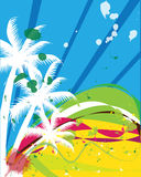Beach illustration Stock Images