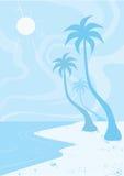 Beach, illustration Stock Photos
