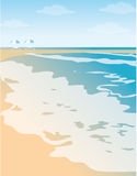 Beach illustration Royalty Free Stock Photography