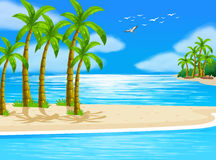 Beach. Illustration of a beautiful beach view Royalty Free Stock Photos