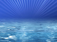 Beach illustration - clear blue water Royalty Free Stock Photo