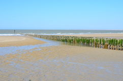 Beach In Breskens, Zeeland Royalty Free Stock Images