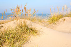 Beach In New Buffalo, Michigan Royalty Free Stock Images