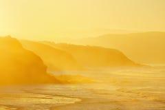 Free Beach In Sopela At Hazy Sunset Stock Photo - 64356430
