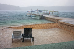 Free Beach In The Rain Stock Photo - 28105280