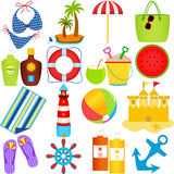 Beach In The Summer Theme Royalty Free Stock Image