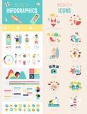 Beach Infographic set Royalty Free Stock Photos