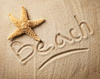 Beach inscription Royalty Free Stock Photo