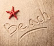 Beach inscription Royalty Free Stock Photos