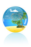 Beach. The beach inside the mable Royalty Free Stock Images