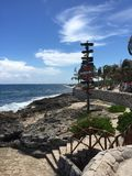 Beach Inside Xcaret Nature Park, Cancun Mexico Stock Images