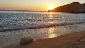 Beach at Ionian sea Stock Photography