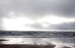 On a beach in Ireland on a stormy day Stock Photos