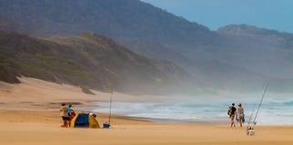 Beach at iSimangaliso-Wetland-Park stock photo