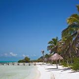 Beach on the Isla Contoy, Mexico Stock Photo